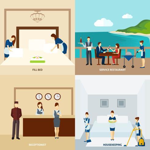 Hotelpersonal Wohnung vektor