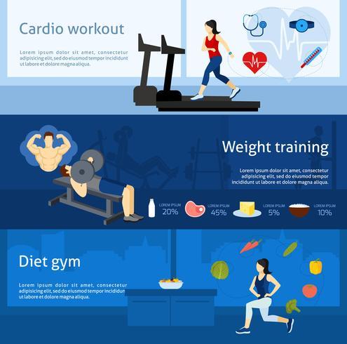 Fitnessstudio-Trainingsbanner vektor