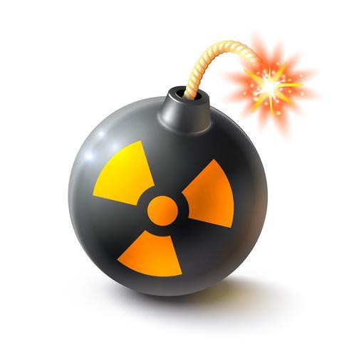 Bombe realistische Darstellung vektor