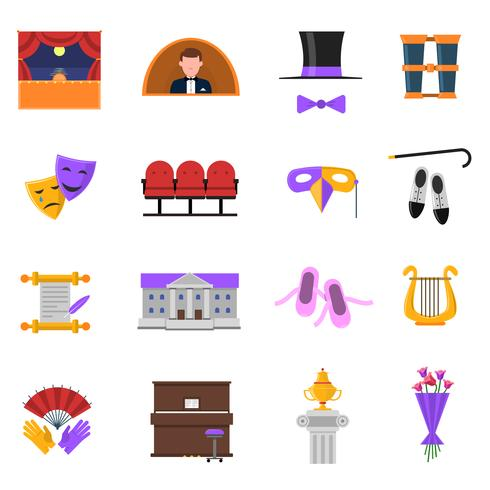 Theater Icons Set vektor