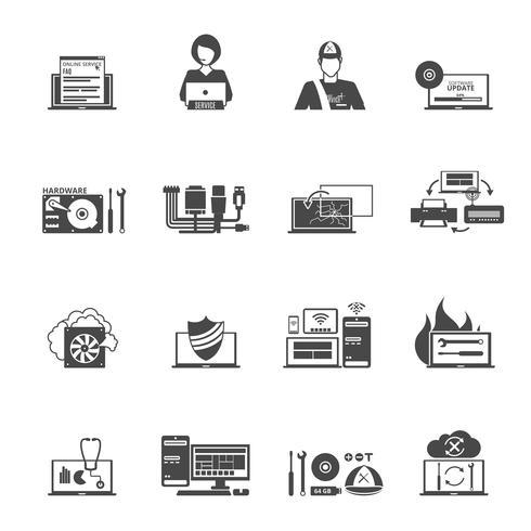 Inställningar för datatjänst ikoner vektor