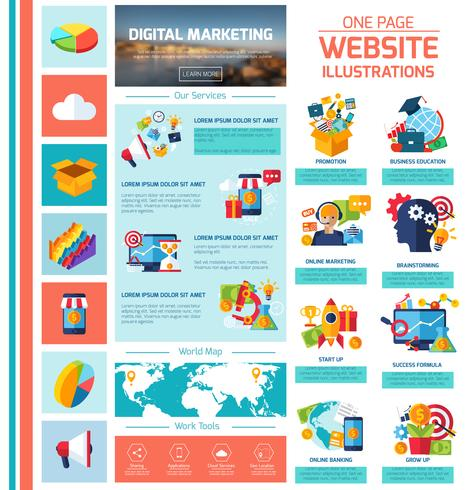 digital marknadsföring infographics vektor