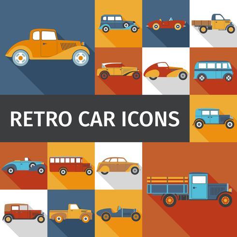 gamla bilar set vektor