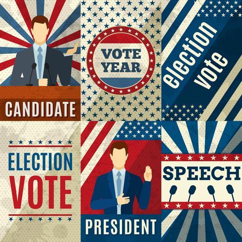 Vintage Politik Poster vektor