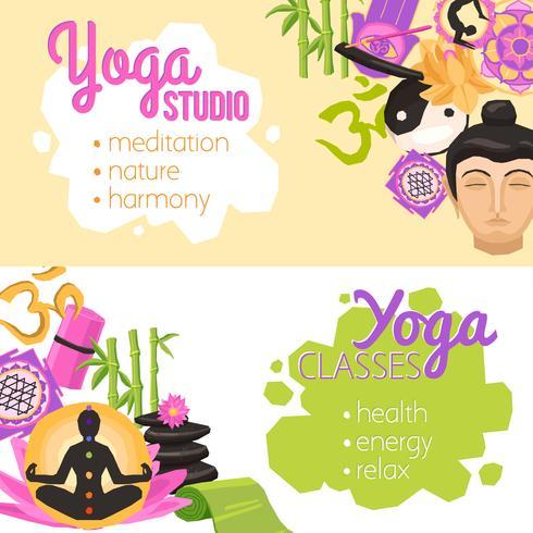 Yoga Banners Horisontell vektor