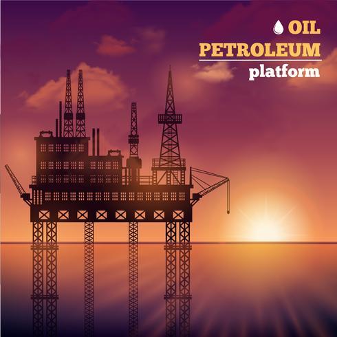 olje petroleum plattform vektor