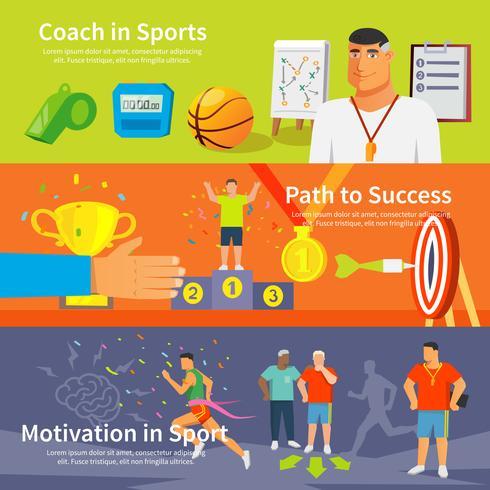 Coaching Sport-Banner-Set vektor