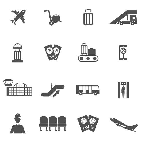 Flughafen Icons Set vektor