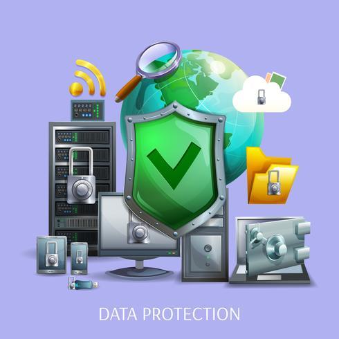 Dataskyddskoncept vektor