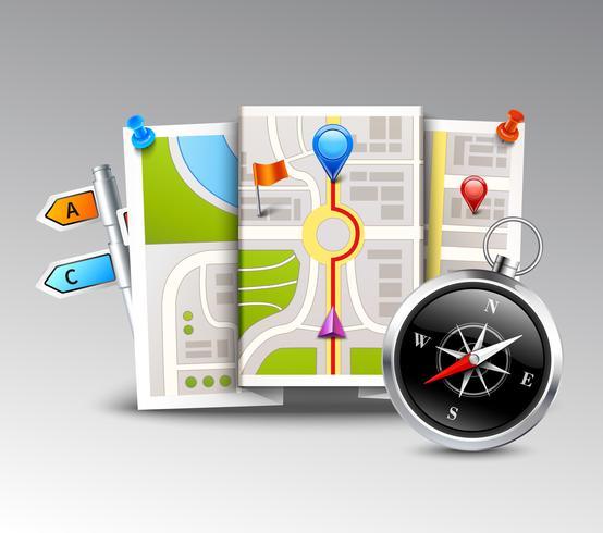 Navigation Realistisk bakgrund vektor