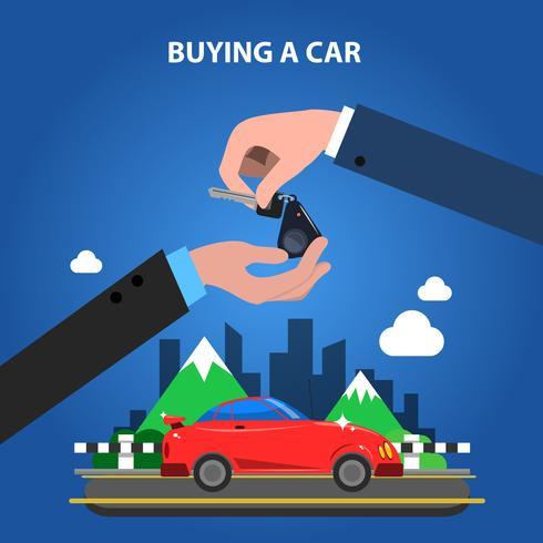 Köper ett bilkoncept vektor