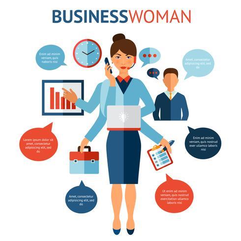 Geschäftsfrau-Designkonzept vektor