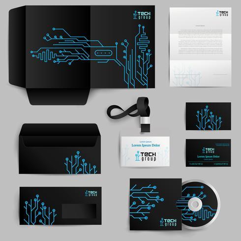 Corporate Identity-Technologie-Muster vektor
