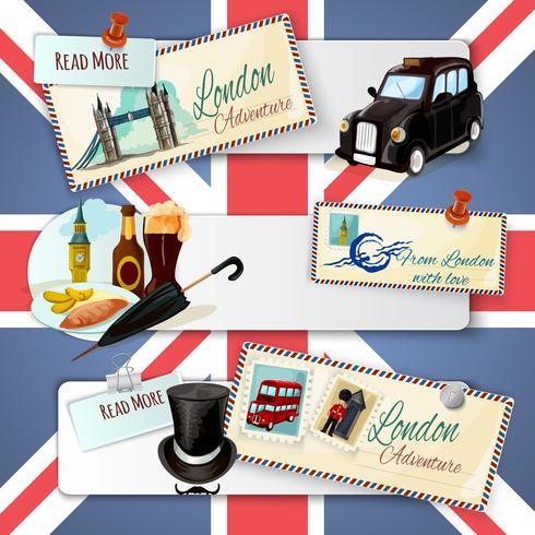 London touristische Banner-Set vektor