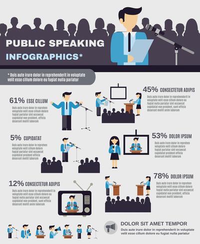 public speaking infographics vektor