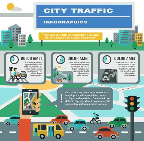 Verkehrsinfografiken Set vektor