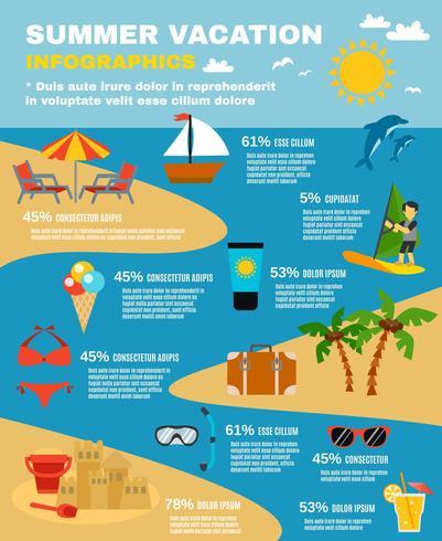 Sommar Infographic Set vektor