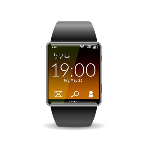 Realistisk Smart Watch vektor