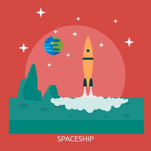 Raumschiff konzeptionelle Illustration Design vektor