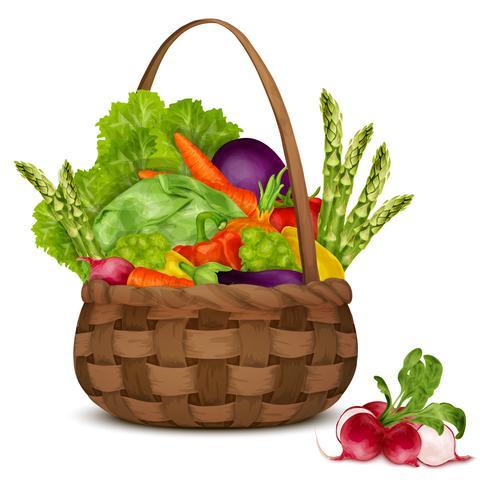 Gemüse im Korb vektor