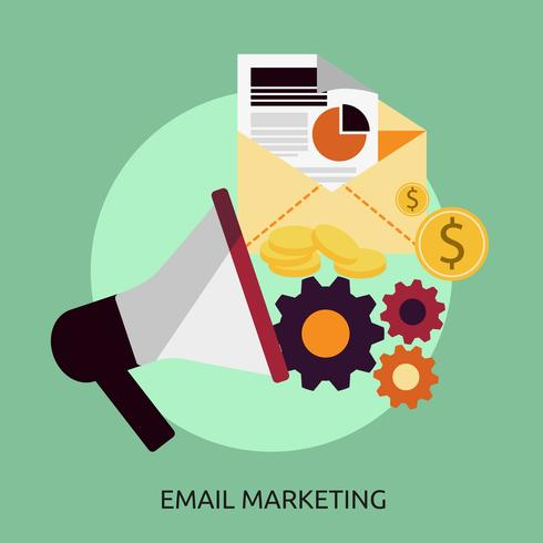 E-Mail-Marketing-Begriffsillustration Design vektor