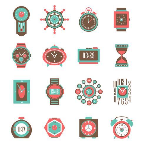 Uhr-Icon-Set vektor