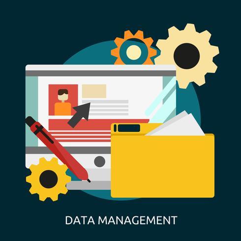 Datenmanagement Konzeptionelle Darstellung vektor
