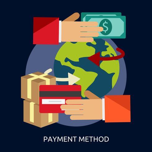 Zahlungsmethode konzeptionelle Illustration Design vektor