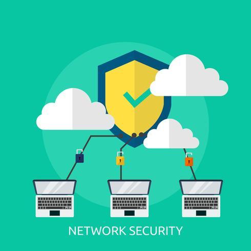 Konzeptionelle Darstellung der Netzwerksicherheit vektor