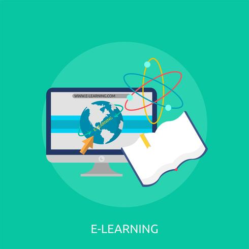 E-Learning Konzeptionelle Darstellung vektor