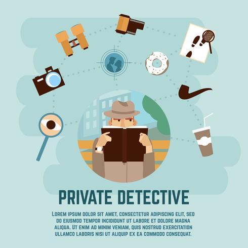 Privat Detektivkoncept vektor