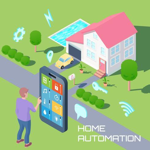 Hem Automation Design Concept vektor