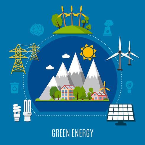 Grön energikomposition vektor