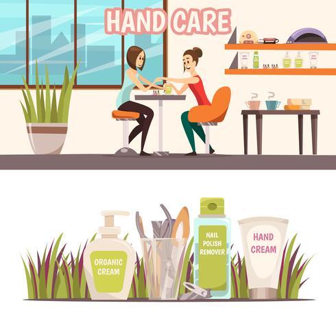 manicure banners set vektor