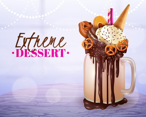 Extreme Dessert Suddig Ljus Bakgrund Poster vektor