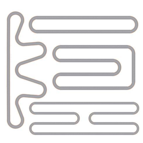 Enkel Race Track Shape Set vektor
