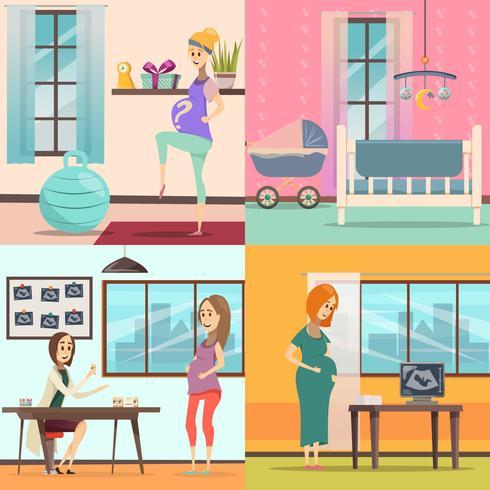 Schwangerschaft-Icon-Set vektor