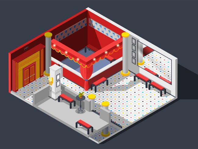 Theatersaal-Komposition vektor
