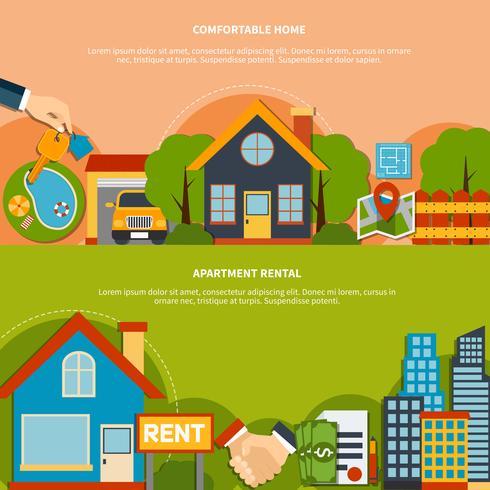 Fastighetsbanners vektor