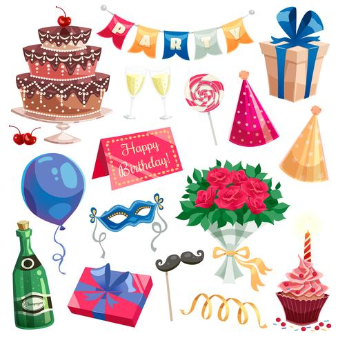 Geburtstagsfeier-Set vektor