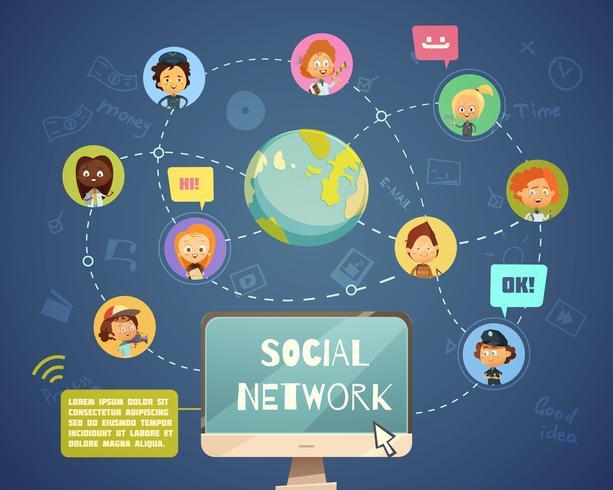 Sociala nätverkande människor av olika yrken vektor