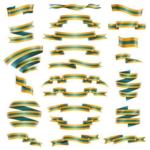 Zierbänder eingestellt vektor