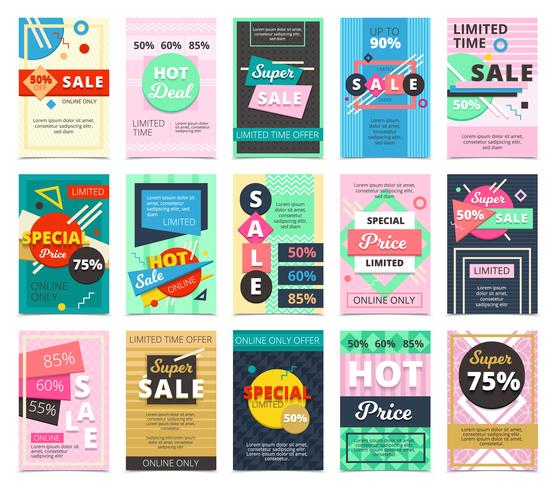 Big Collection Flat Hot Sales Banners vektor