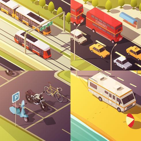 Transport-Konzept-Icons Set vektor