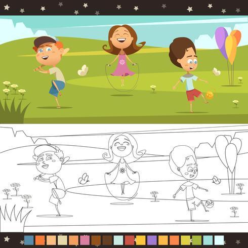 barn färgläggningssida vektor