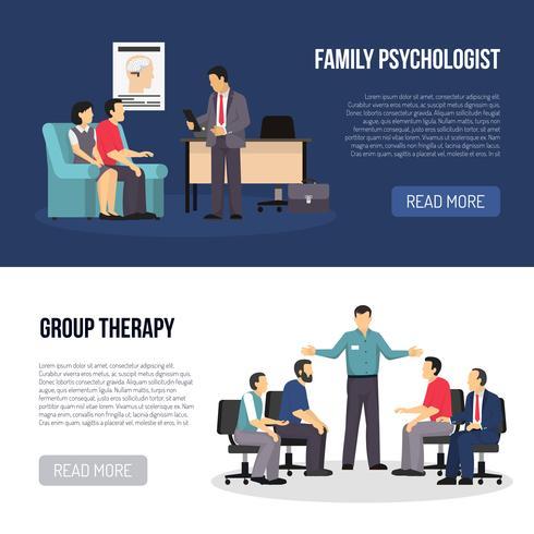 Två Psychologist Banners vektor