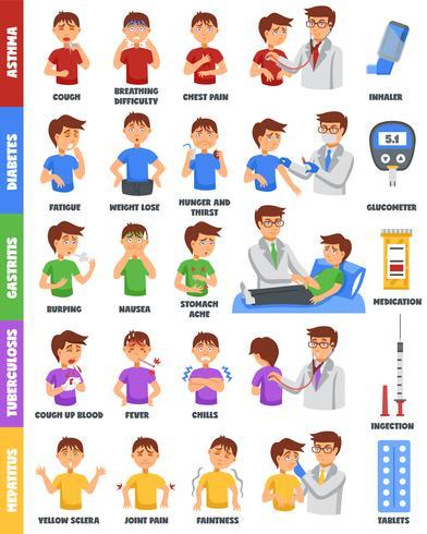 Krankheiten und Medikamente Poster vektor