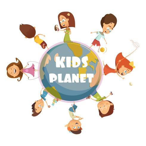 Spelar Kids Concept vektor