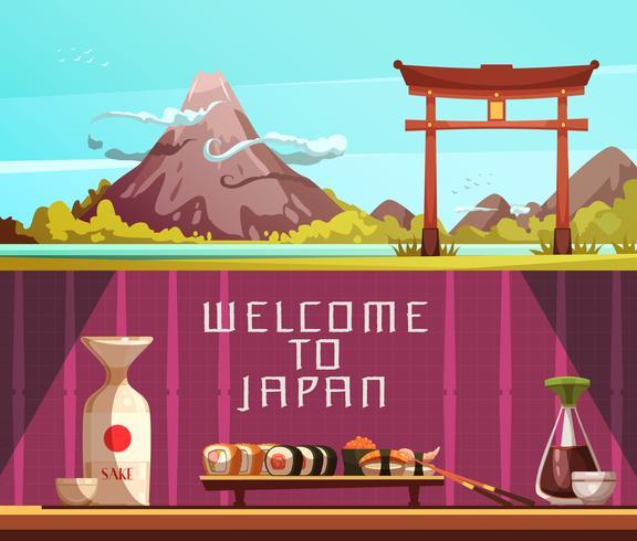 Japan Reise 2 horizontale Retro Banner vektor