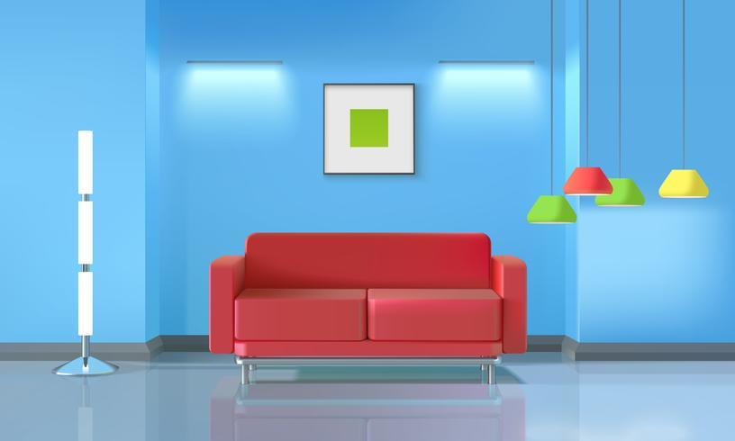 Vardagsrum realistisk design vektor